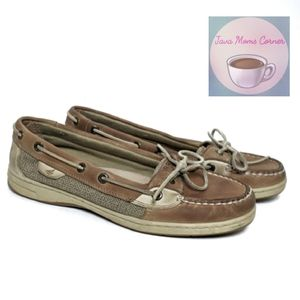 Sperry Top Slider Angelfish Boat Shoes Lin…